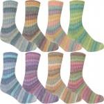 Online Cotton Stretch Color Sockenwolle mit Baumwolle