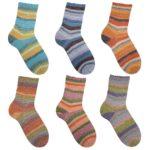 Stripe Hype Sockenwolle Baumwolle Stretch